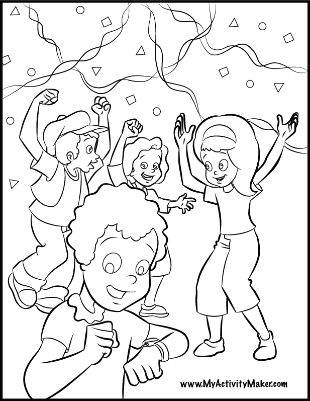 new years eve coloring pages - photo#43