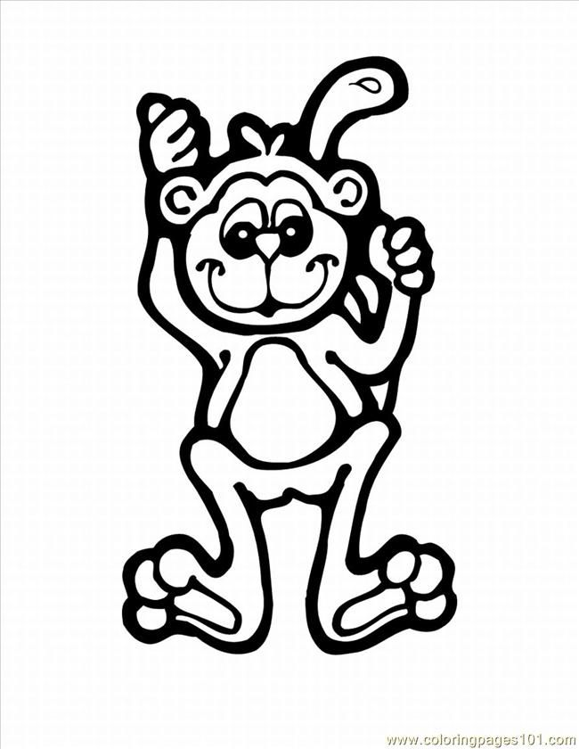 Baby Monkey Coloring Pages To Print