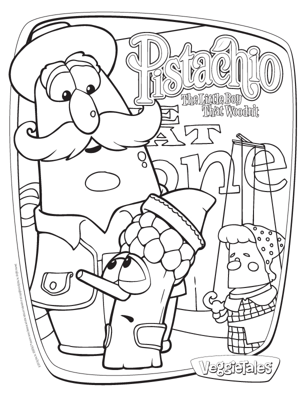 Veggie tales coloring page az coloring pages for Veggie tales coloring pages