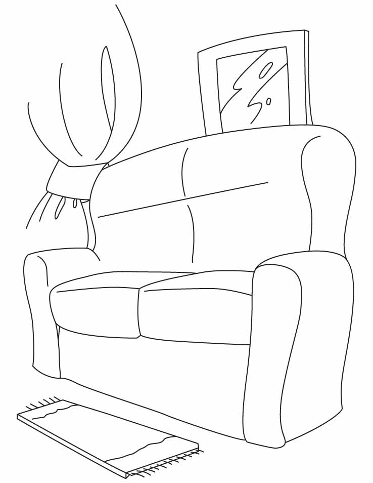 coloring pages couch - photo#16
