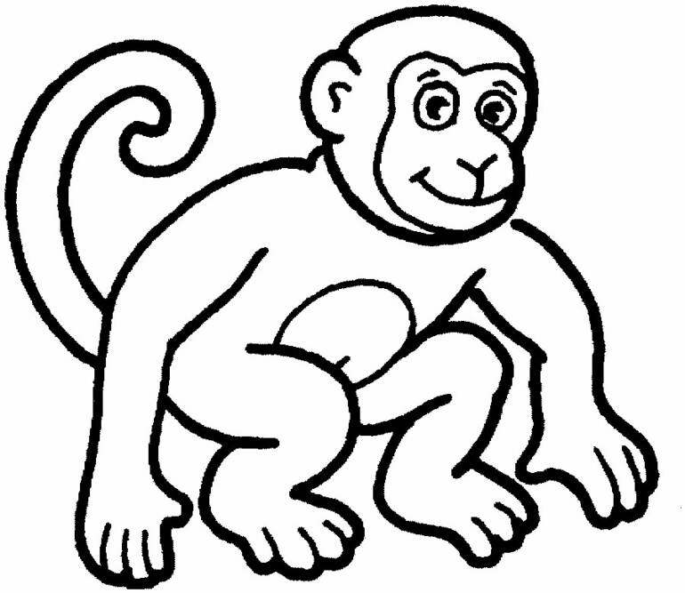 Monkey coloring pages for kids coloring home for Coloring pages for kids monkey