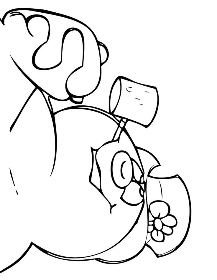Frosty The Snowman Coloring Pages Frosty Coloring Page