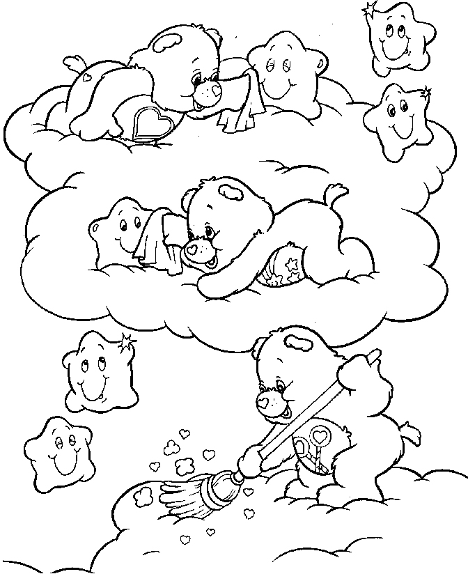 care bear coloring pages christmas - photo#19