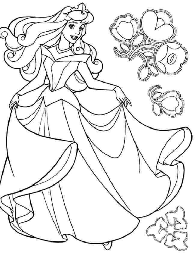 coloring pages disney princess aurora - photo#24
