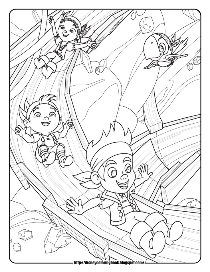 Jake and the neverland pirates drawing az coloring pages for Jake and the neverland pirates coloring pages