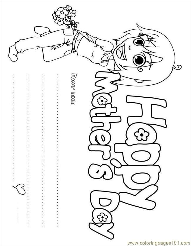 Coloring Pages Mothers Day Coloring Page Fdh (Entertainment