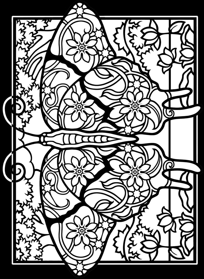 online stained glass coloring pages - photo#21