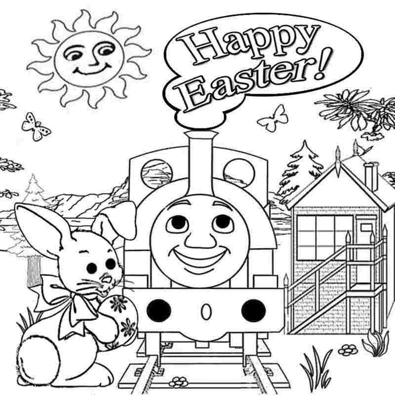 - Thomas The Train Easter Coloring Pages - Coloring Home