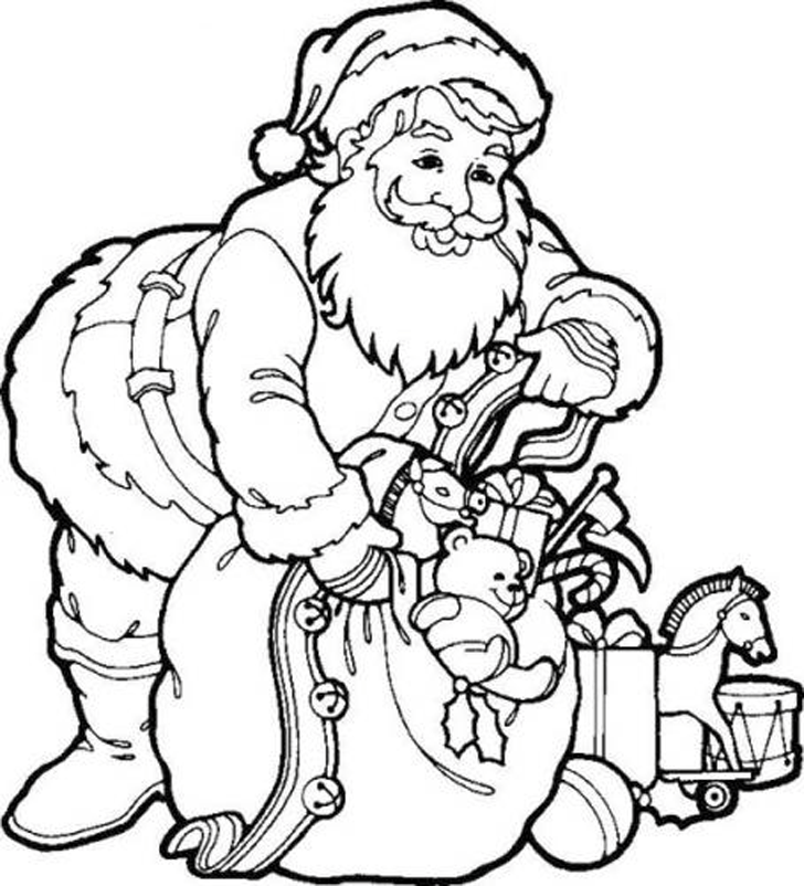 christmas coloring pages children nestled - photo#5