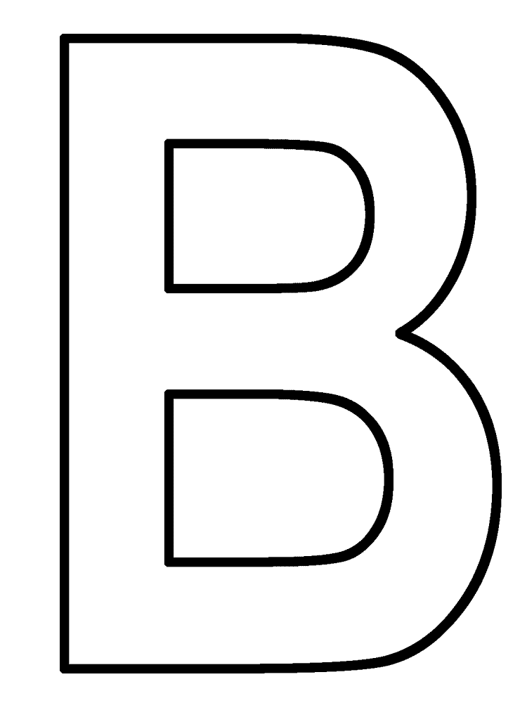 coloring pages letter b - photo#3