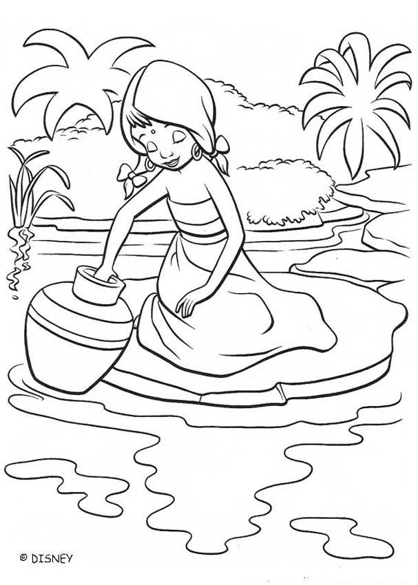 THE JUNGLE BOOK 2 Disney movie coloring books - SHANTI at the river