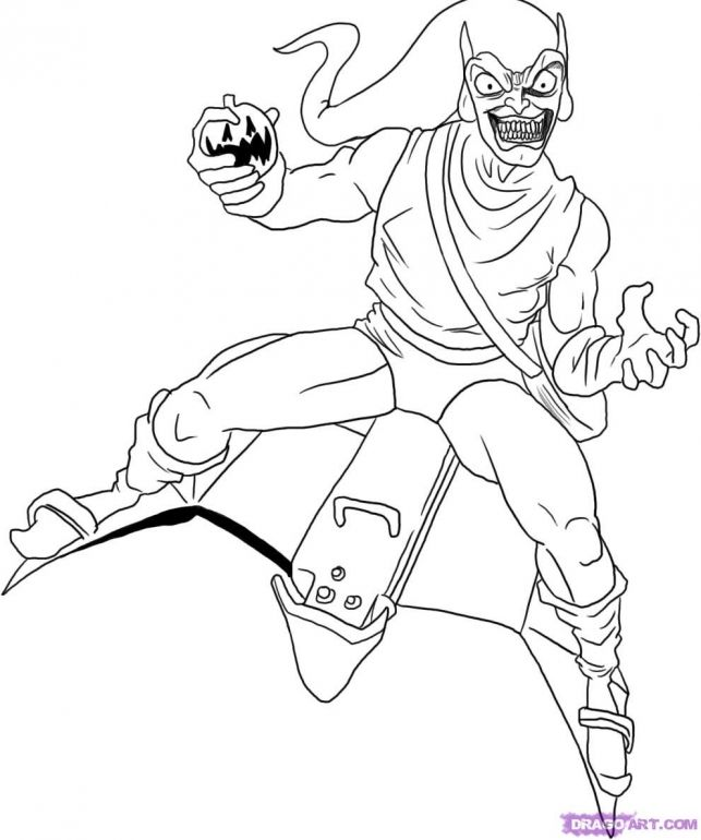 green goblin coloring pages - photo#2