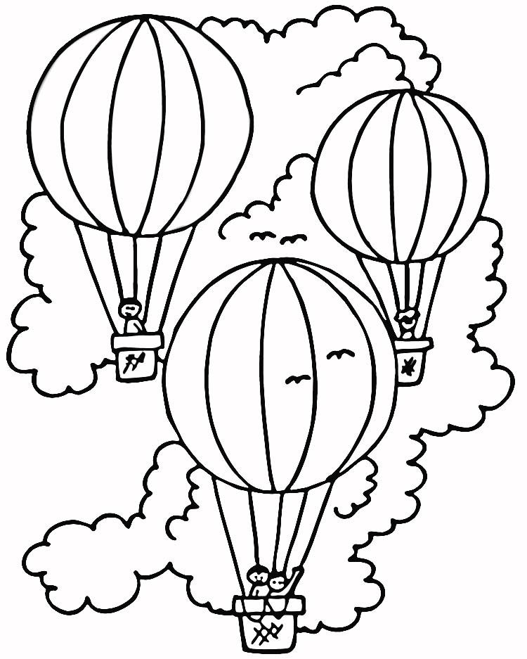 HOT AIR BALLOON Colouring Pages (page 2)