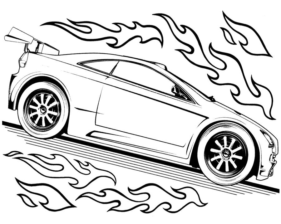 hot wheel coloring pages - photo#6