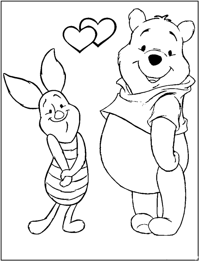 clasic poooh coloring pages - photo#7