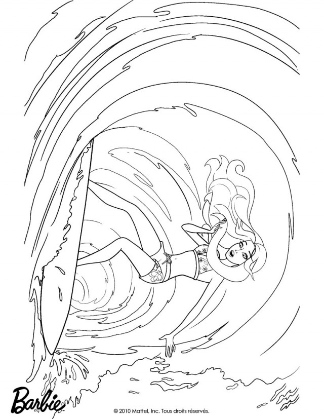 barbie mermadia coloring pages - photo#25