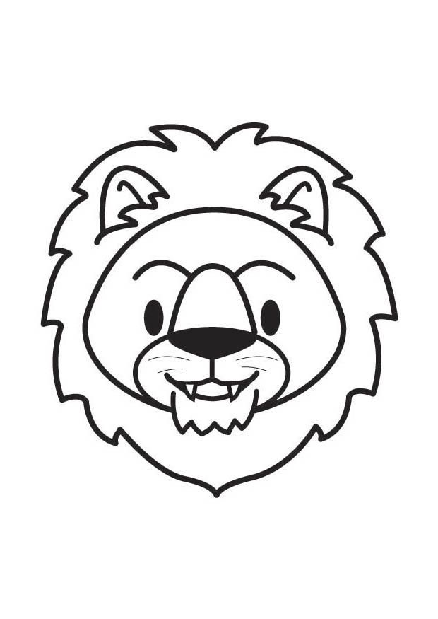 lion head coloring page coloring home. Black Bedroom Furniture Sets. Home Design Ideas