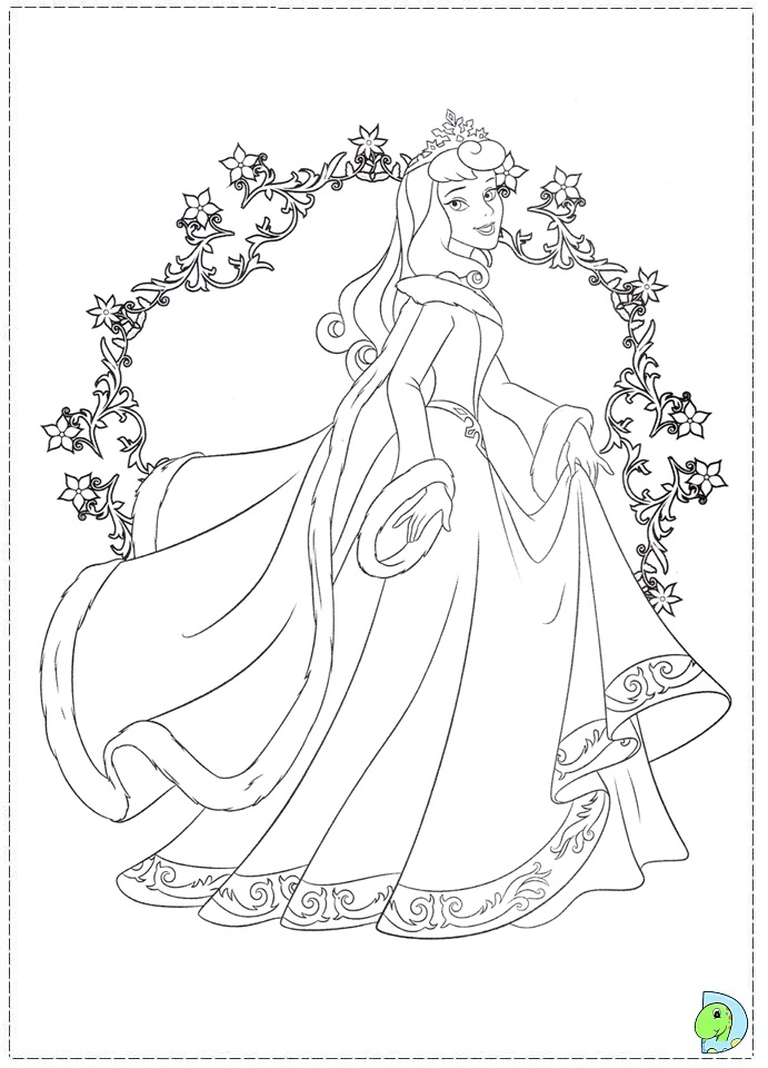 christmas princess coloring pages - photo#13