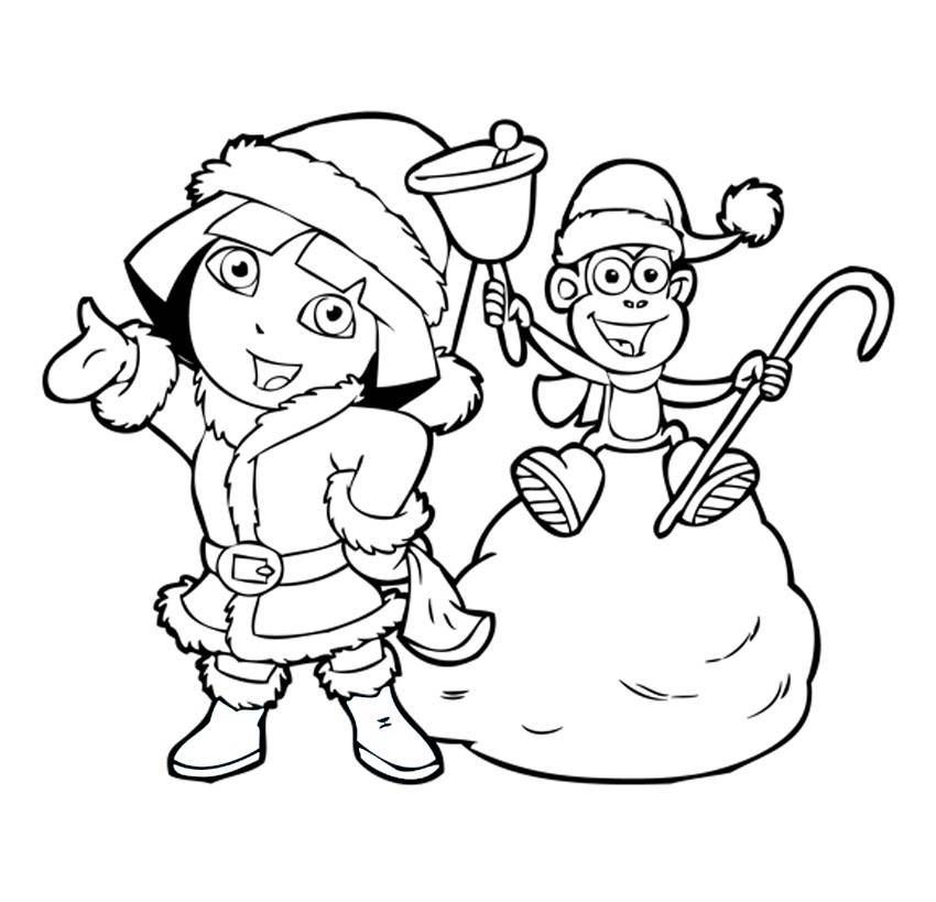 Dora Coloring Pages! Backpack, Diego, Boots, Swiper! Print and Color!