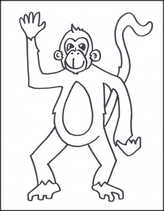 Monkey Printable Coloring Pages - Coloring Home