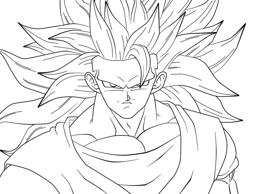 an supersan supersaiyan 2 Colouring Pages