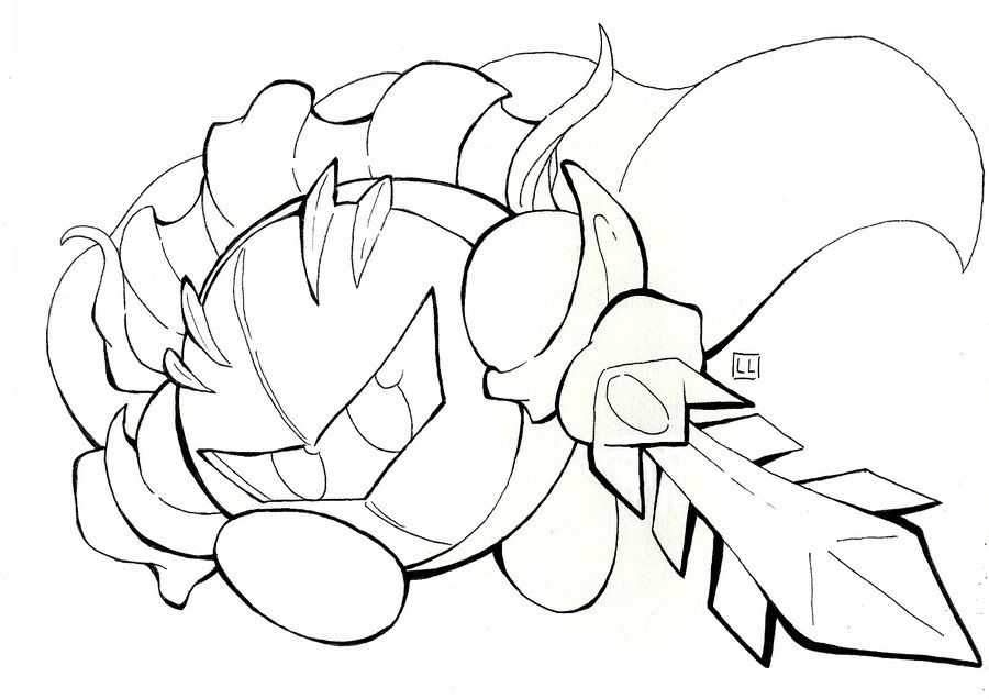 Kirby Coloring Pages Meta Knight - Coloring Home