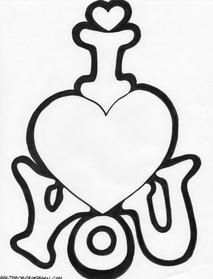 Cute Hearts To Draw For Your Boyfriend I Love You Coloring Pages