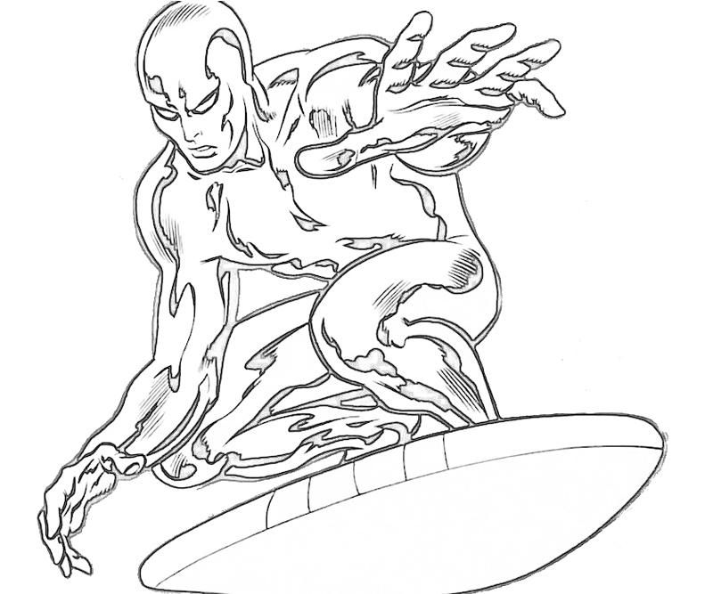 Silver surfer coloring pages coloring home - Coloriage surfeur ...