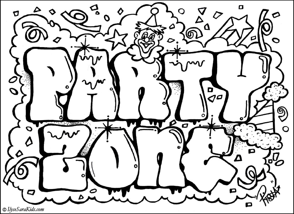 Gallery Free Graffiti Coloring Pages Printable