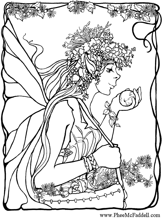 adult fairies Colouring Pages