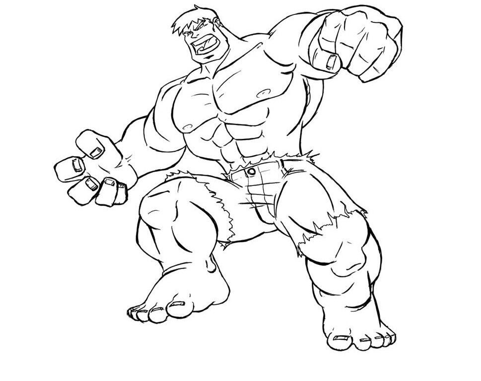 incredible hulk pintable coloring pages - photo#12