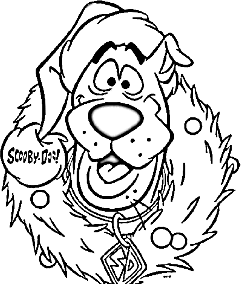 Scooby Doo Christmas Coloring Pages - Coloring Home