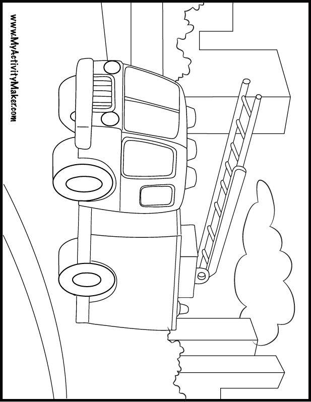 fire jeep colouring pages