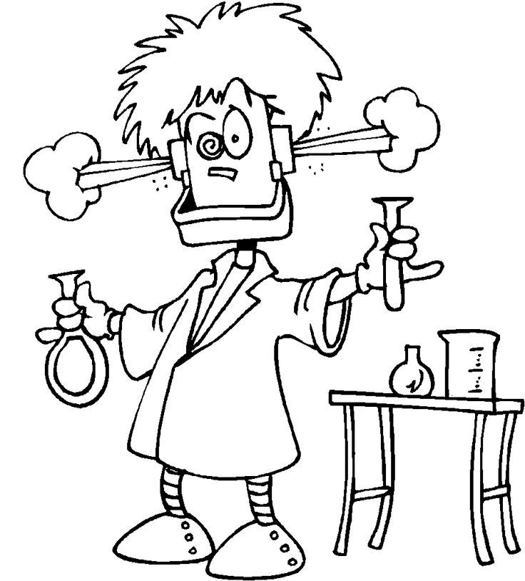 Mad Scientist Coloring Pages - Coloring Home