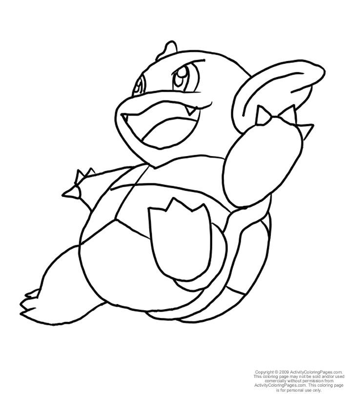 pokemon coloring pages of blastoise - photo#21