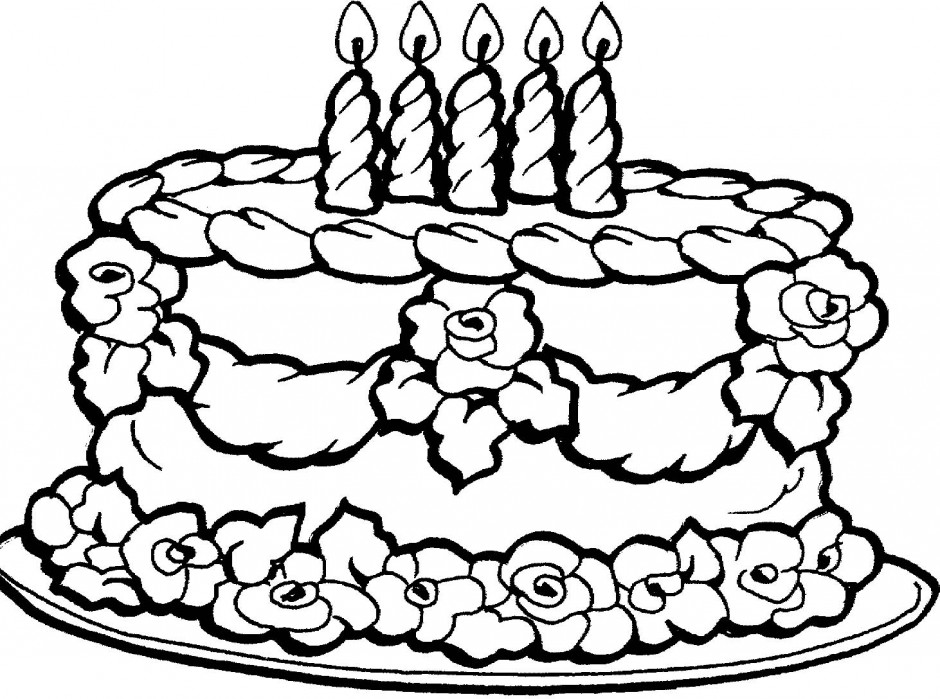 Wedding Cake Coloring Online Super Coloring 209612 Cake Coloring Pages
