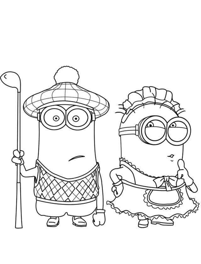 minion tim coloring pages - photo#3