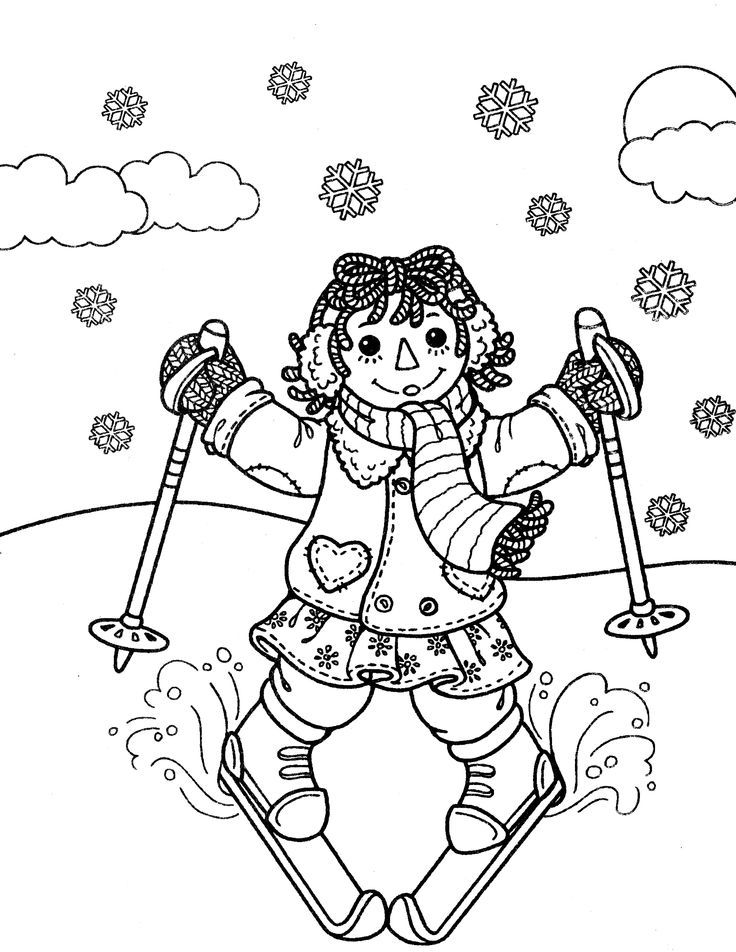 Raggedy Ann Coloring Pages Coloring Home