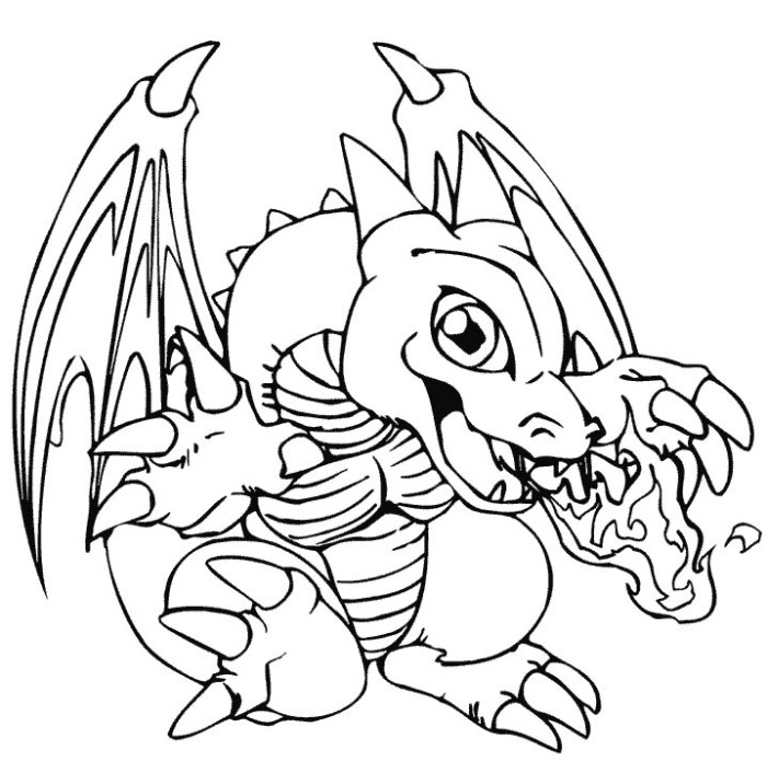 cartoon dragons coloring pages - photo#15