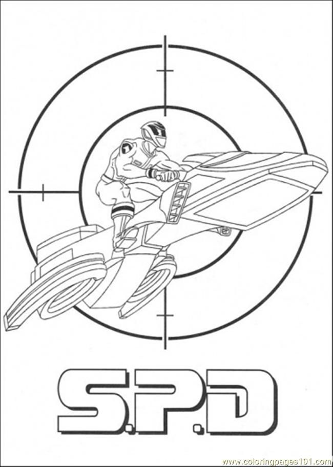 Printable Power Rangers Coloring Pages