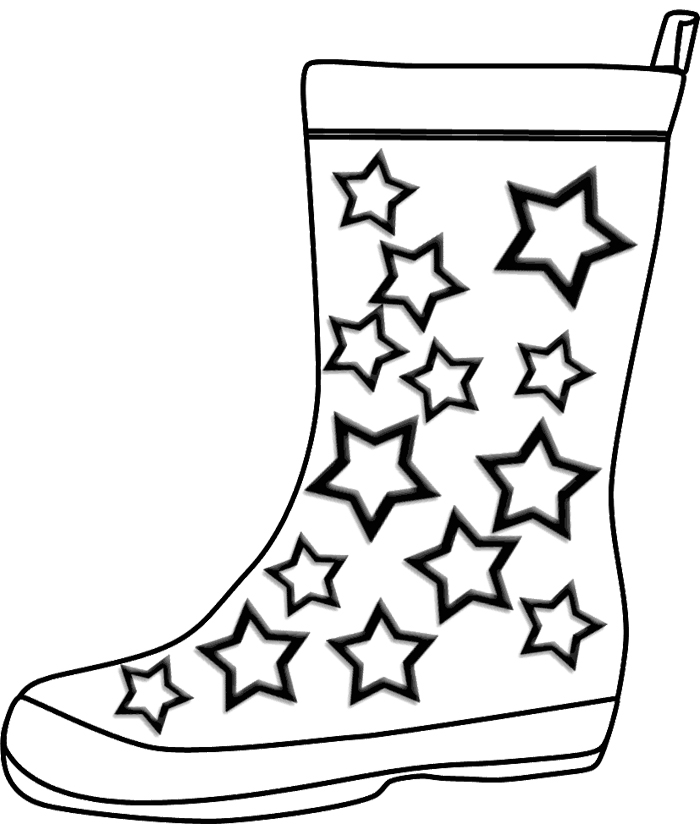 printable cowboy boots coloring pages - photo#31