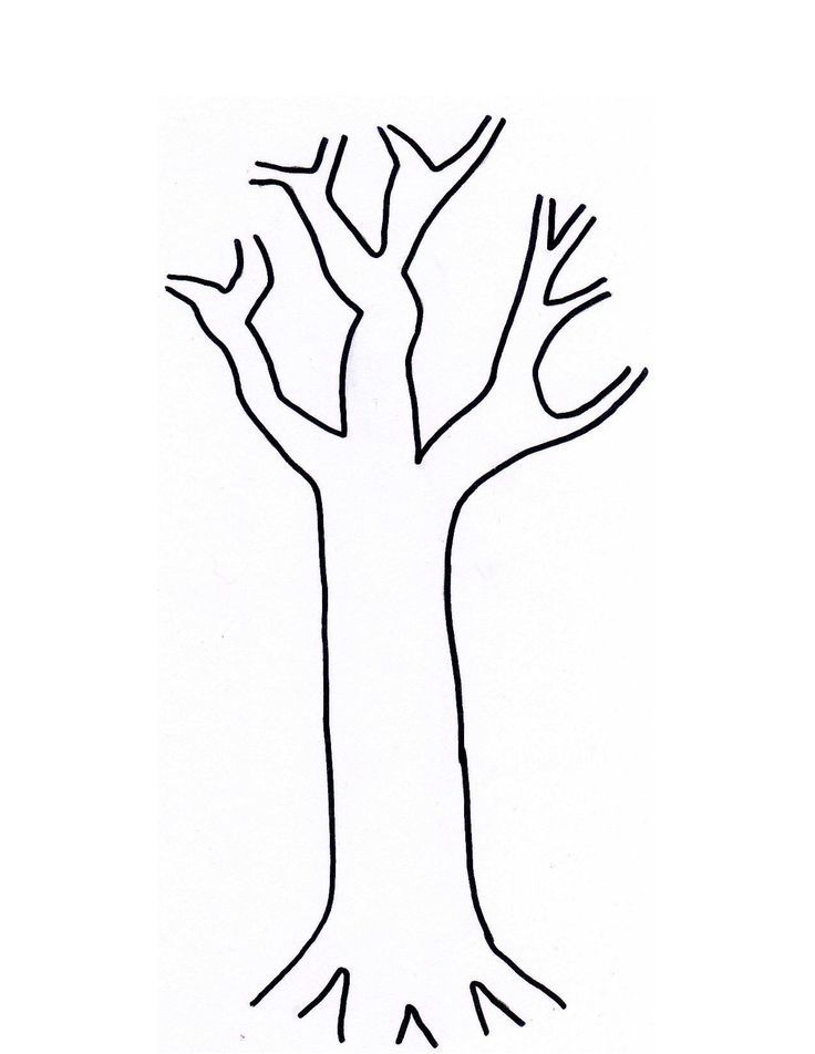 Tree Trunk Coloring Page Coloring