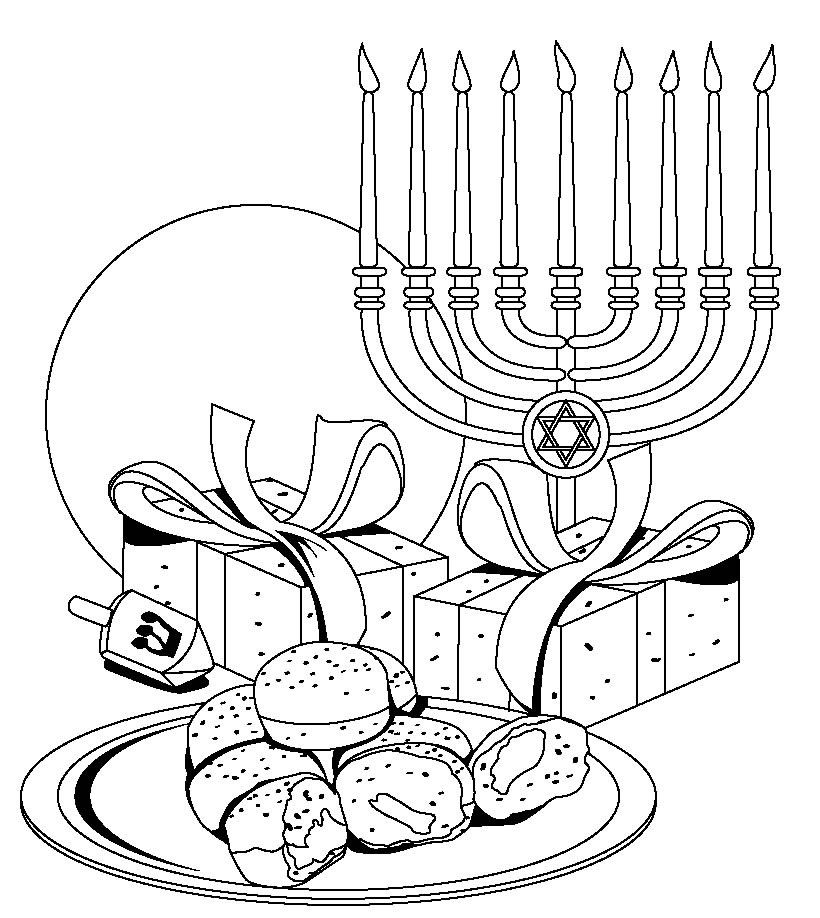 hanukkah free printable coloring pages-#5