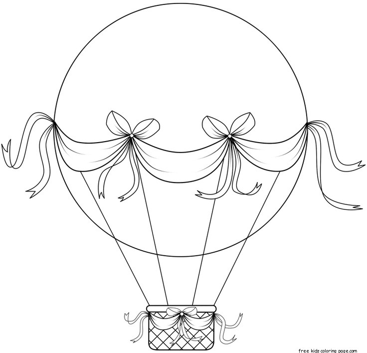 Air Balloons Coloring Pages