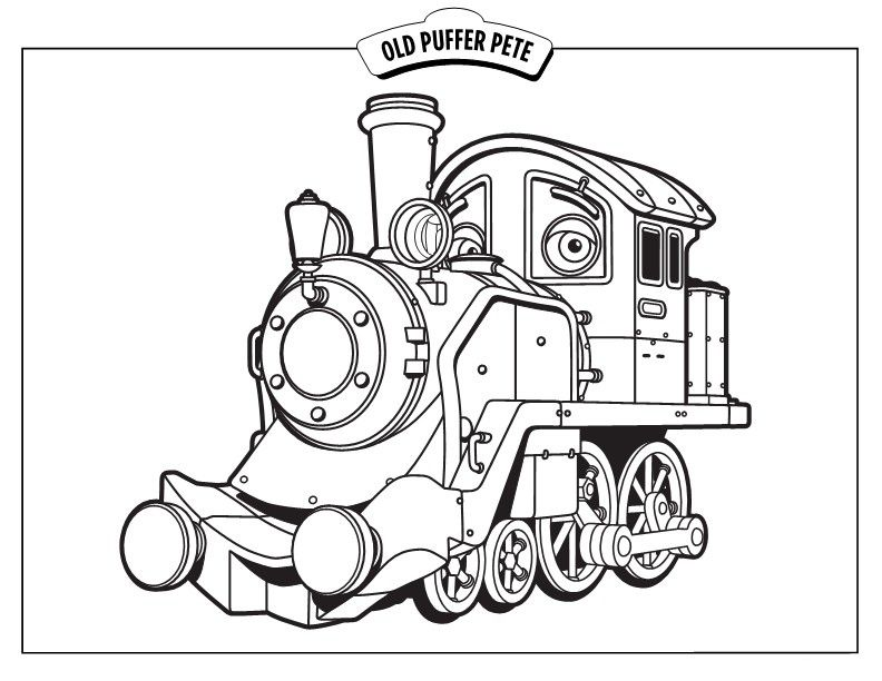 chuggington coloring pages for children to print free and paint
