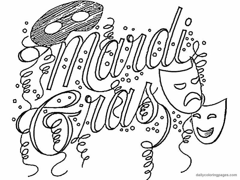 printable madi gras coloring pages - photo#17