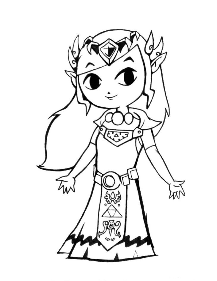 free zelda online coloring pages - photo#19