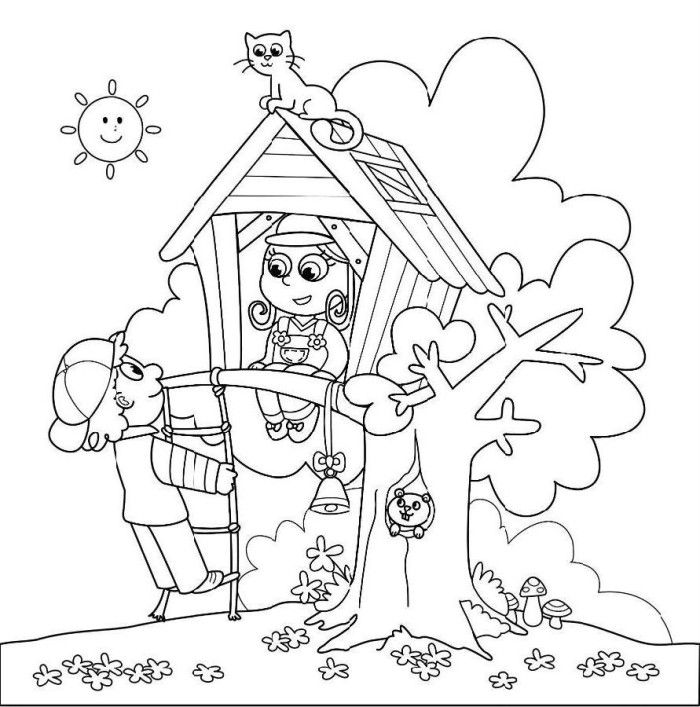 Magic Tree House Coloring Pages Printable Coloring Pages Tree House Coloring Pages
