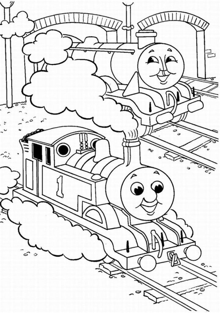 thomas color page - thomas the engine coloring pages coloring home