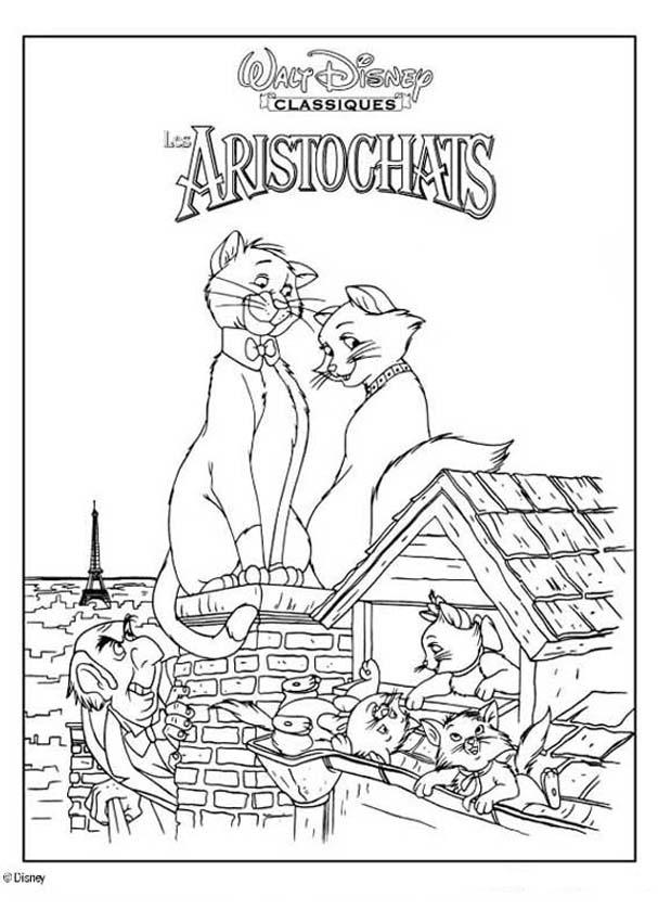 aristocats colouring pages coloring home